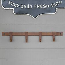 Farmhouse Coat & Hat Hanger Rustic Bronze Primitive Iron Multi Hook Wall Rack