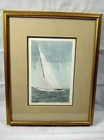 Frank Kaczmarek Sailboat Art Twelve Meter Yacht Watercolor Print Nautical 6/200