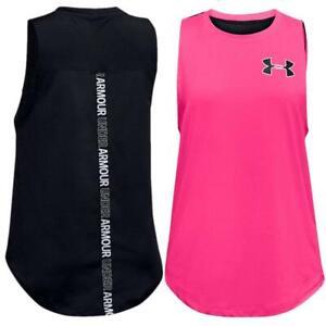 Under Armour Girls Youth Teens HeatGear Sleeveless Tank Gym Yoga Sports Top