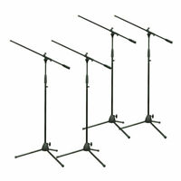 4 x Thor MS003 Black Metal Microphone Boom Stand Sound System PA Band Strong