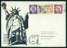 USA UMSCHLAG HANDGEMALT !! 1965 STATUE OF LIBERTY UNIKAT !! UNIQUE !! el55