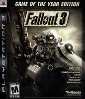 Fallout 3 Game of the Year Edition Greatest Hits PlayStation 3 PS3