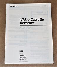 Sony SLV-780HF/781 HF Video Cassette ORIGINAL user manual in ENGLISH Language!
