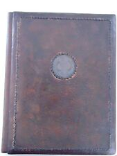 RARE Vintage Large Brown Leather Bulgarian Communist Party Folder Journal БКП