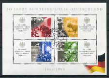 Bund Block 49 PF I gestempelt Freiburg Plattenfehler BRD Michel 70 Euro used