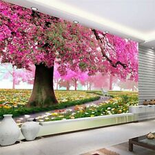 Custom Photo Wall Paper 3D Romantic Cherry Tree TV Background Home Wallpaper