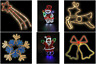 Outdoor Indoor Christmas Rope Lights Decoration Multicolour Star Reindeer Bells