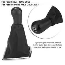 6 Speed Gear Shifter Shift Knob + Gaiter Boot Cover for Ford Focus Mondeo MK3