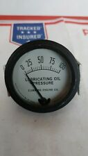 vintage rochester manufacturing oil pressure guage0-100, Dial 5-50068