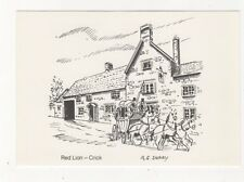 Red Lion Crick Manns Pub Postcard 485b