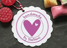 "♥ Stempel individuell ""Handmade"" mit Firmennamen ♥"