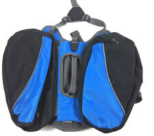Top Paw Backpack for Dogs Medium Black/Blue Pet Harness