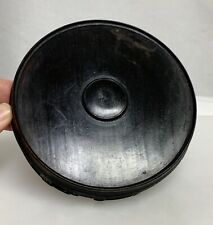 """Vintage Chinese 5"""" 13cm Round Carved Wood Display Stand - 59958"""