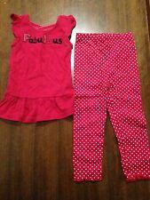 EUC sz 3 3t Gymboree Poppy Love Fabulous Top Polka Dot Leggings Outfit