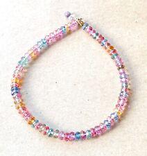 "Topaz Gemstone Bracelet simple dainty layer stack bracelet real 18k gold 7.5"""