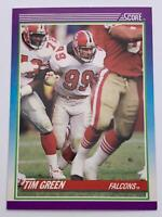 American Football Card💎Tim Green - Falcons💎1990 Score Card 206🌟OLB #99🌟