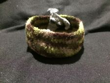 "Crocheted Greyhound ""Woodsy"" Bowl 100% Donation 2 Cure K9 Cancer"