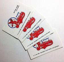 4 pc Lot Satchel Paige Redbirds Business Card HOF Negro League Baseball