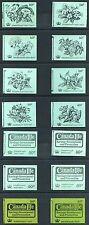 1971-74 QEII Decimal 50p Stitched Booklets DT1-14