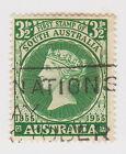 (W1128) 1955 AU 3½d green SA centenary of first stamp (E)