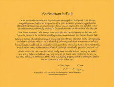 TOM KRYSS AN AMERICAN IN PARIS SIGNED POEM BROADSIDE LTD EDITION OF 20 COPIES***