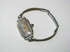 Antique Vtg Jules Racine 14K White Gold Ladies 15 Jewels Watch Kreisler Bracelet
