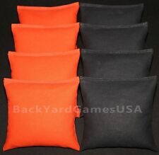 CORNHOLE BEAN BAGS Orange & Black 8 ACA Regulation Corn Hole Game Bags Harley CS