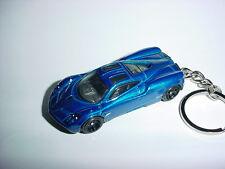 NEW 3D PAGANI HUAYRA CUSTOM KEYCHAIN keyring key top gear blue finish SPEED