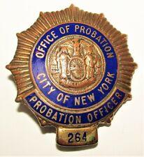 OBSOLETE City Of New York Probation Officer Enamel Badge