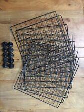 :: C&C Pet Cage Grids Black x8 and Connectors x10