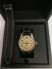 Hamilton Khaki Watch, Olive Dial With Black Leather Strap H604550