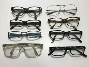 Lot of 8 Designer Eyeglass Frames for Parts/Repair - Tom Ford, Ray Ban, Prada ++