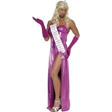 Pink Funny Mr Miss World Dress Gloves Sash Mens Funny Fancy Dress Costume
