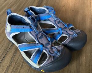 Keen Sandals Kids Youth Size 4 Blue Waterproof Sport Shoes Boys