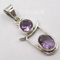 925 Solid Silver Amethyst Tibetan Pendant Wedding SilverStarJewel Jewelry