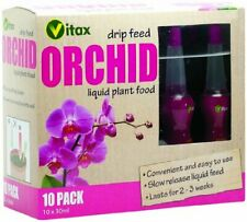 10 X VITAX ORCHID DRIP FEED SLOW RELEASE LIQUID PLANT FOOD 30ML