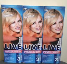 3x Schwarzkopf LIVE Pastel Spray APRICOT SUNRISE, 3x125ml, Temporary Hair Colour
