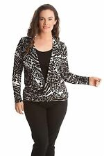 Animal Print Cowl Neck Classic Tops & Shirts for Women