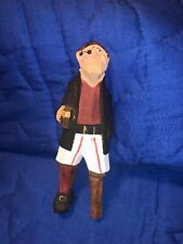 Vintage Hand Carved wood Pirate with wooden Peg Leg nautical sailing decor