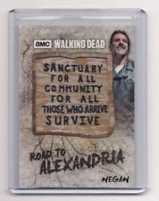 TOPPS WALKING DEAD ROAD TO ALEXANDRIA NEGAN SANCTUARY SIGN PATCH CARD