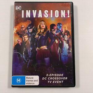 Invasion! DC Crossover TV Event 3 Episodes (DVD 2017) Region 4
