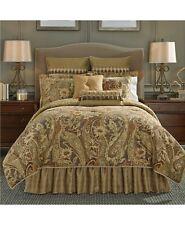 Croscill 4-Piece QUEEN Comforter Set Ashton Paisley Jacquard Gold D07234