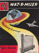 VINTAGE CATALOG #3011 - 1950s WAT-R-MISER HEAT EXCHANGE EQUIPMENT