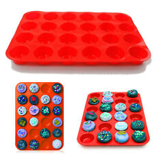 24 Cavity Mini Muffin Cup Silicone Cookies Cupcake Bakeware Pan Tray Mould UK