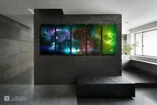 Nebula Space Scene Abstract Paint Metal Wall Art Decor Ready to Hang