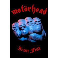 Motorhead Iron Fist large fabric poster / flag  1100mm x 750mm (rz)