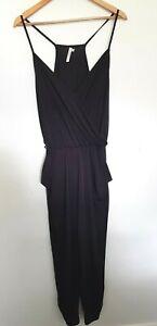 SEAFOLLY Ladies Designer Black Stretch Sleeveless Jumpsuit size S EUC