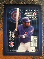 Sammy Sosa Cubs 2000 MLB Showdown RARE HAND CUT PROMO POSTER CARD