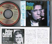 PETER CETERA Solitude/Solitaire JAPAN CD 32XD-522 w/STICKER-OBI 3,200JPY Chicago
