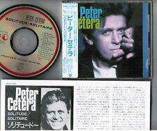 PETER CETERA Solitude/Solitaire JAPAN CD 32XD-522 w/STICKER-OBI 3,200JPY Chicago